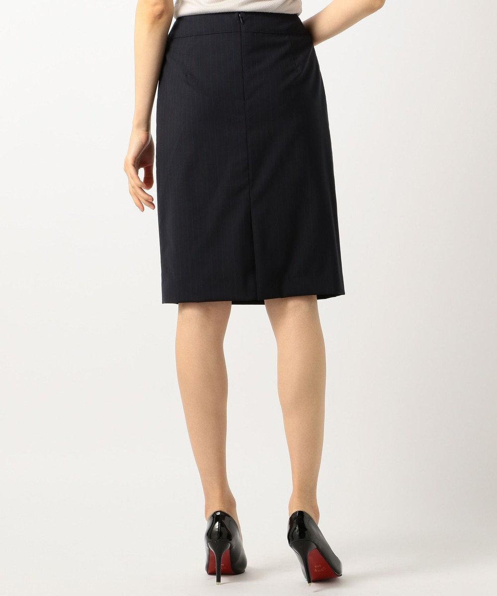 J.PRESS LADIES BottoGiuseppeストライプ スカート ネイビー系1