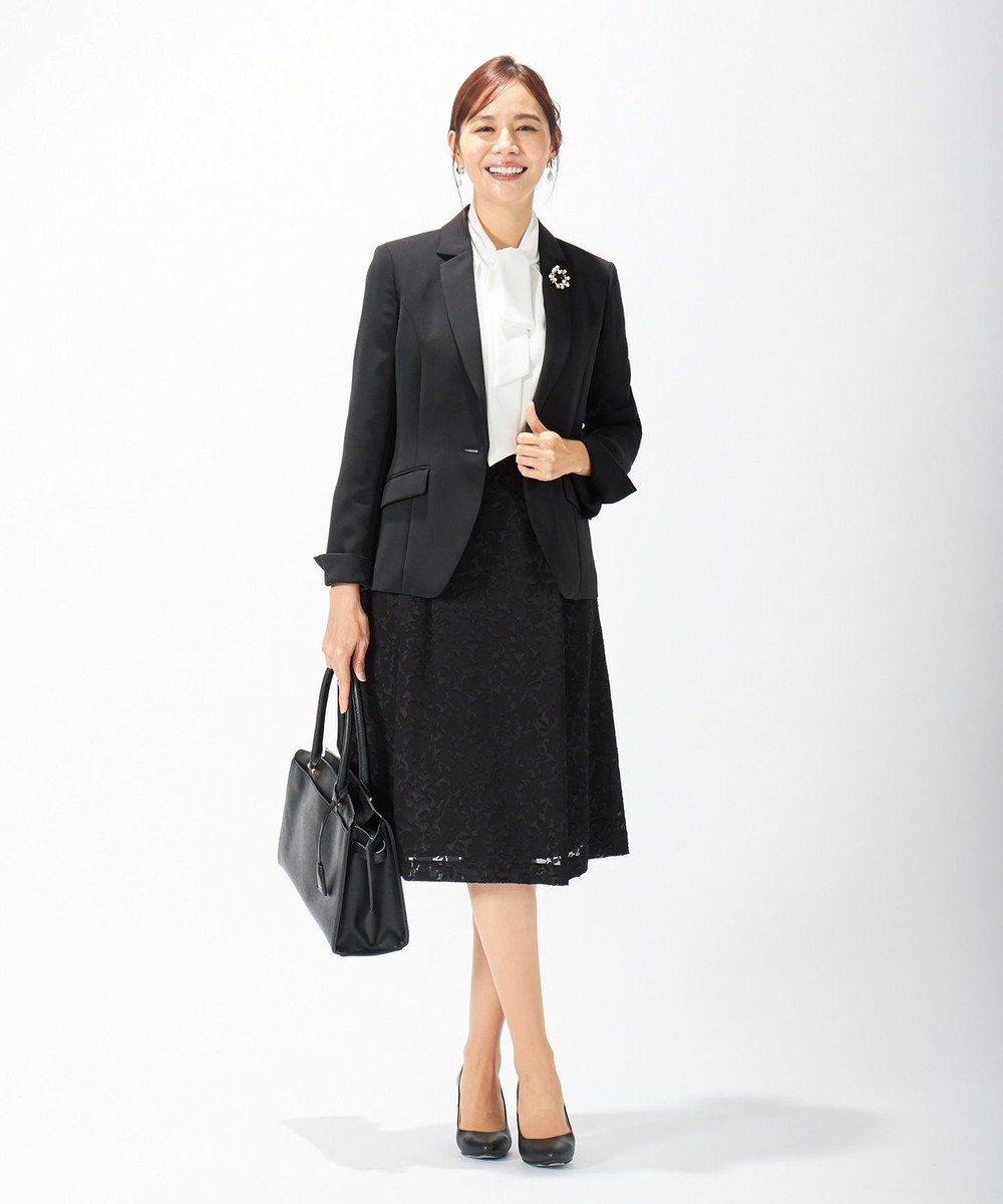 J.PRESS LADIES L 【セットアップ対応】TRオパール スカート ブラック系5