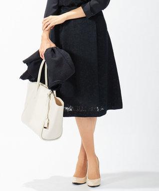 J.PRESS LADIES L 【セットアップ対応】TRオパール スカート ネイビー系5