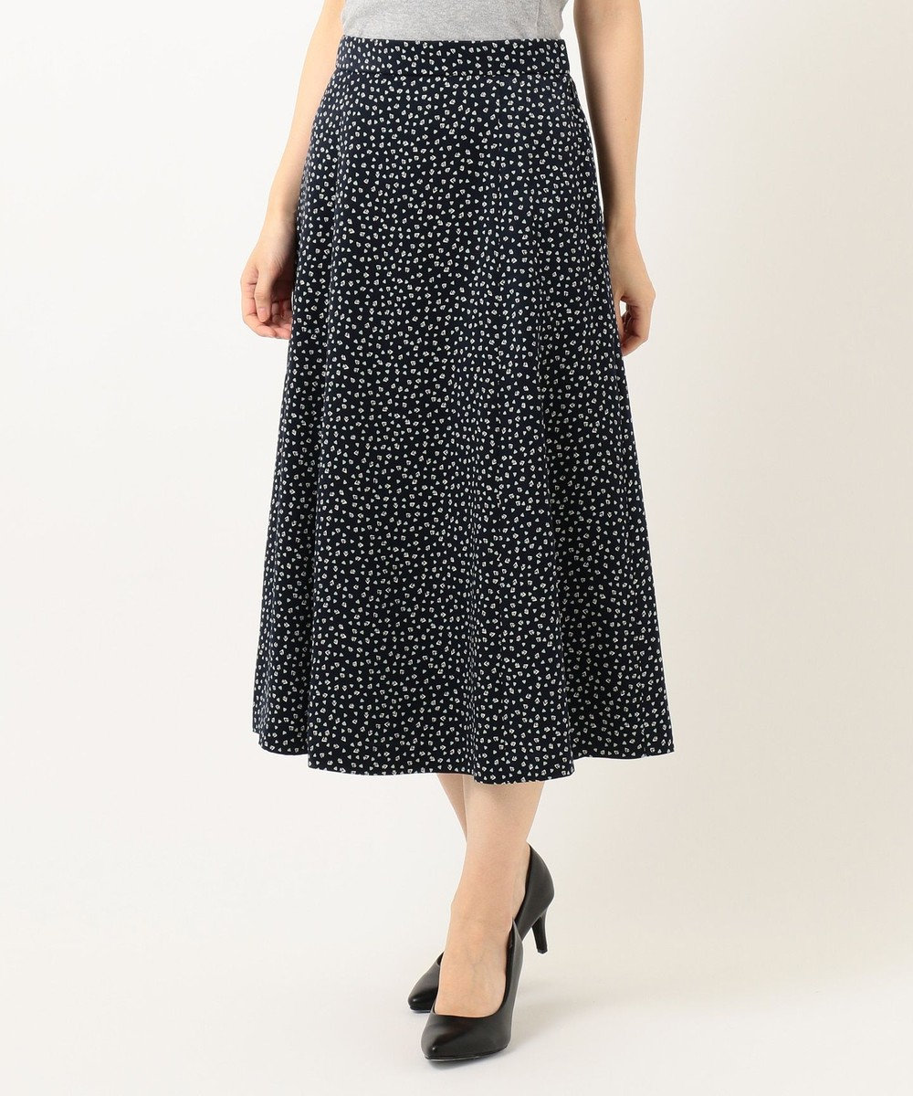 J.PRESS LADIES S 【洗える】ジオメトリック フラワープリント スカート ネイビー系5