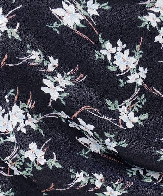 J.PRESS LADIES S 【洗える】ジオメトリック フラワープリント スカート