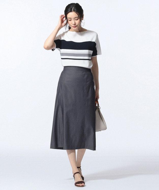 J.PRESS LADIES L 【色落ちしにくい】TENCEL DENIM スカート
