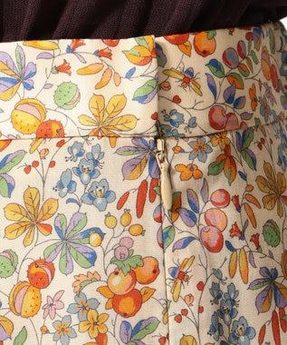 J.PRESS LADIES L 【セットアップ対応】LIBERTY CHESTNUTS プリント スカート ライトオレンジ系5