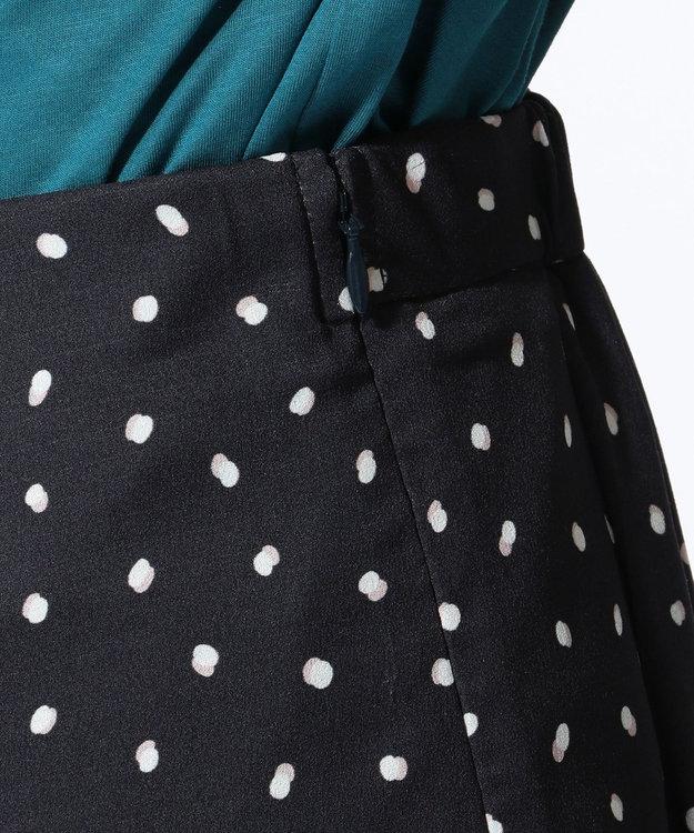 J.PRESS LADIES S 【セットアップ対応】ランダムドットプリント スカート ネイビー系5