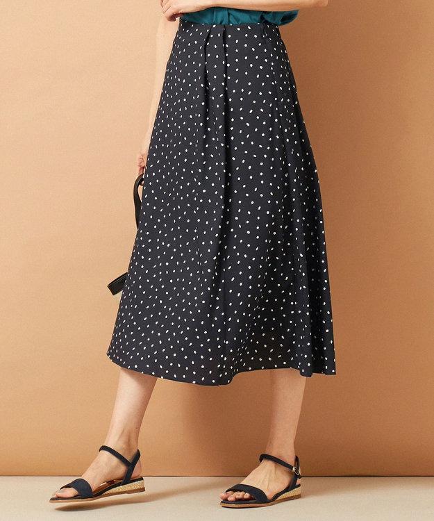 J.PRESS LADIES 【セットアップ対応】ランダムドットプリント スカート