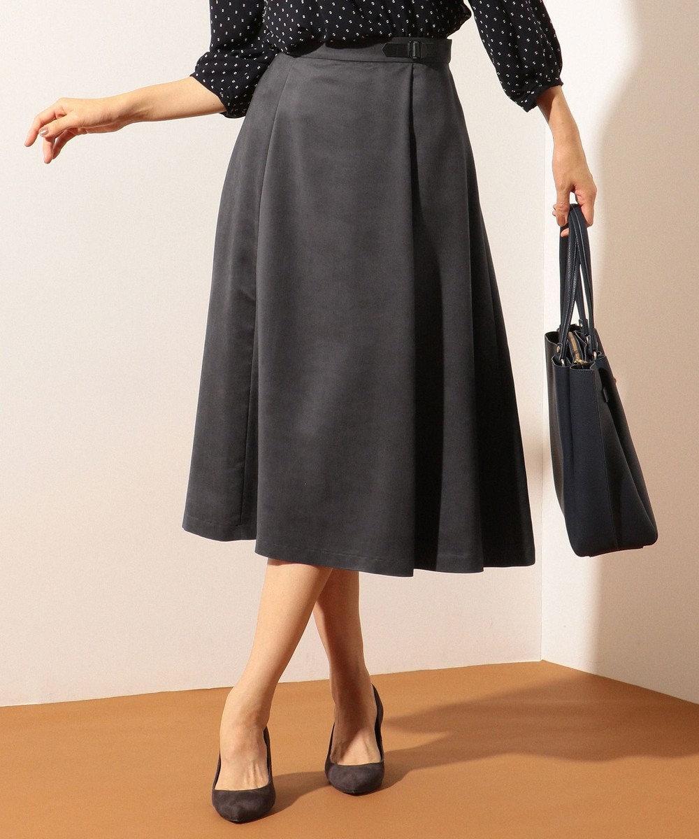 J.PRESS LADIES L ディアーナスエード スカート グレー系