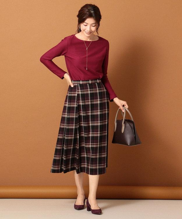 J.PRESS LADIES S コットンリヨセルチェック スカート