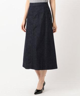 J.PRESS LADIES 【洗える】8oz Stretch Denim スカート ネイビー系