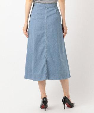 J.PRESS LADIES 【洗える】8oz Stretch Denim スカート サックスブルー系