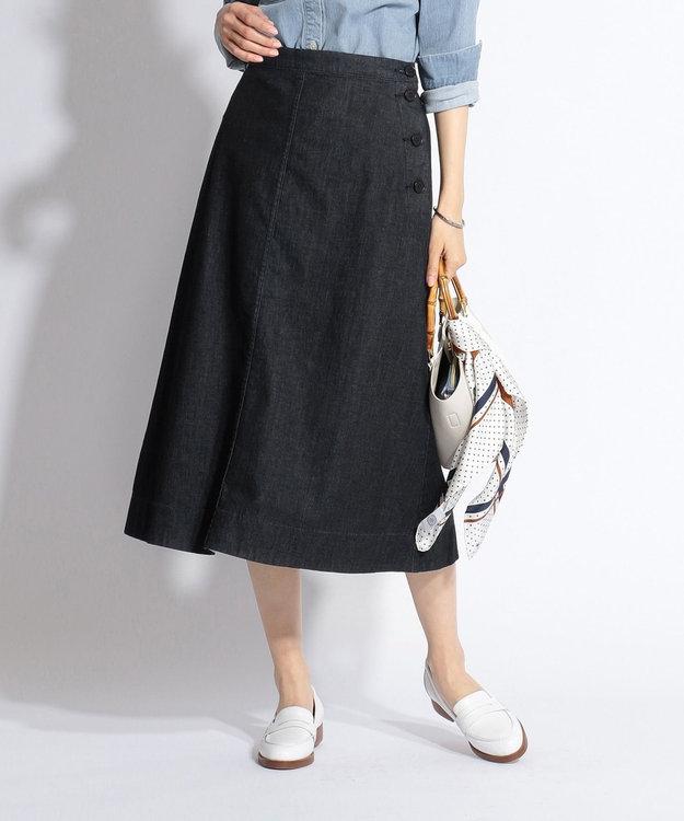 J.PRESS LADIES 【洗える】8oz Stretch Denim スカート