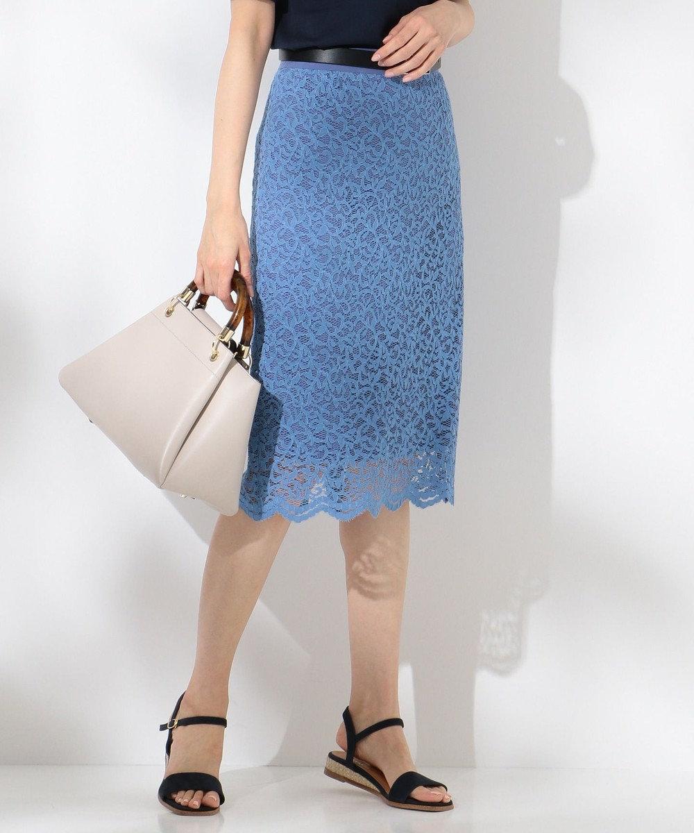 J.PRESS LADIES S 【2019春のWEB限定】ISABEL LACE レース スカート [WEB限定]ブルー