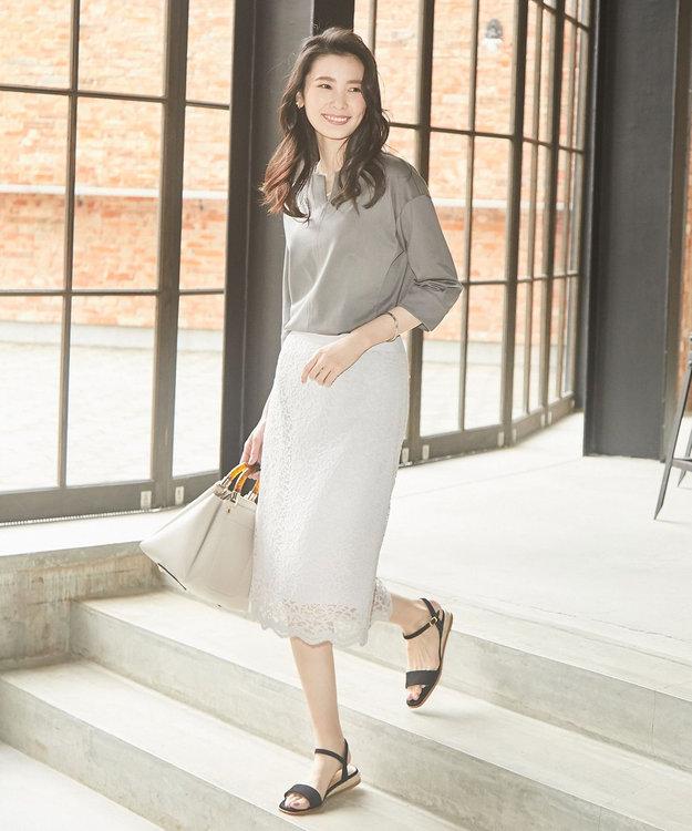 J.PRESS LADIES S 【2019春のWEB限定】ISABEL LACE レース スカート