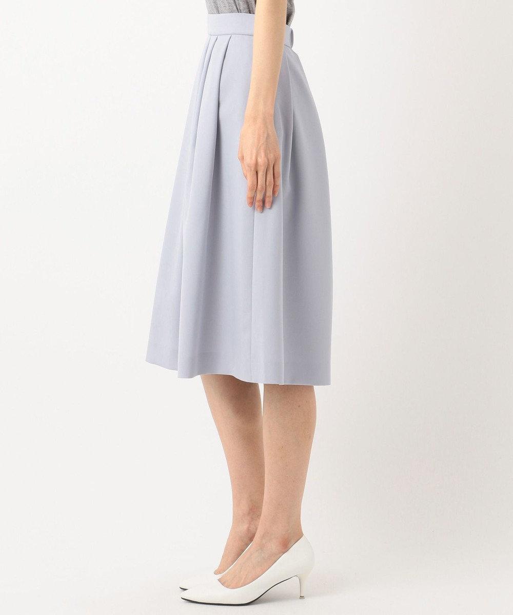 J.PRESS LADIES 【洗える】ナチュラルドライツイル フレアスカート サックスブルー系