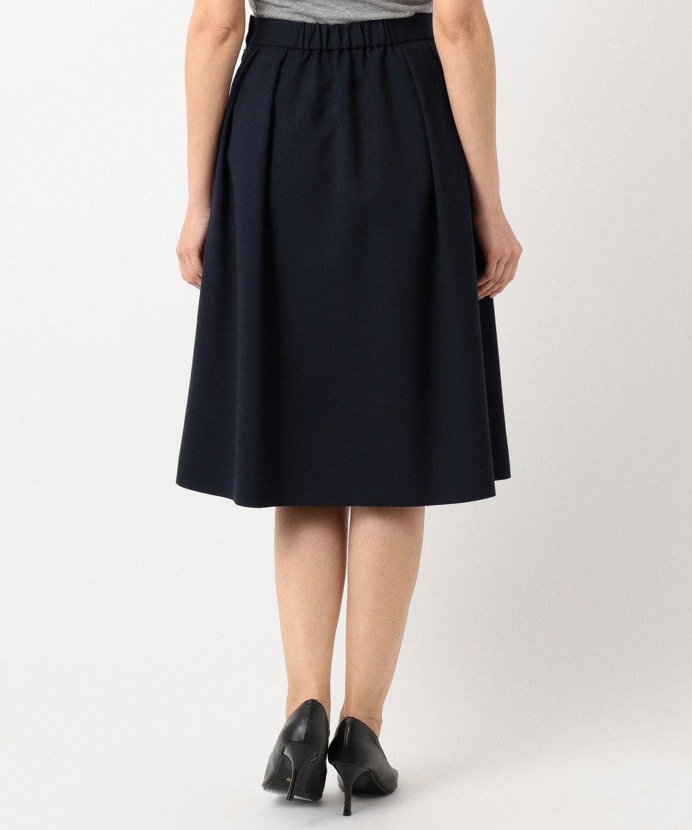 J.PRESS LADIES S 【洗える】ナチュラルドライツイル フレアスカート ネイビー系