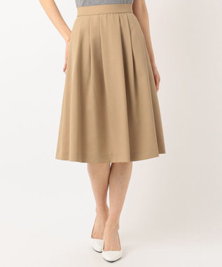 J.PRESS LADIES 【洗える】ナチュラルドライツイル フレアスカート ベージュ系
