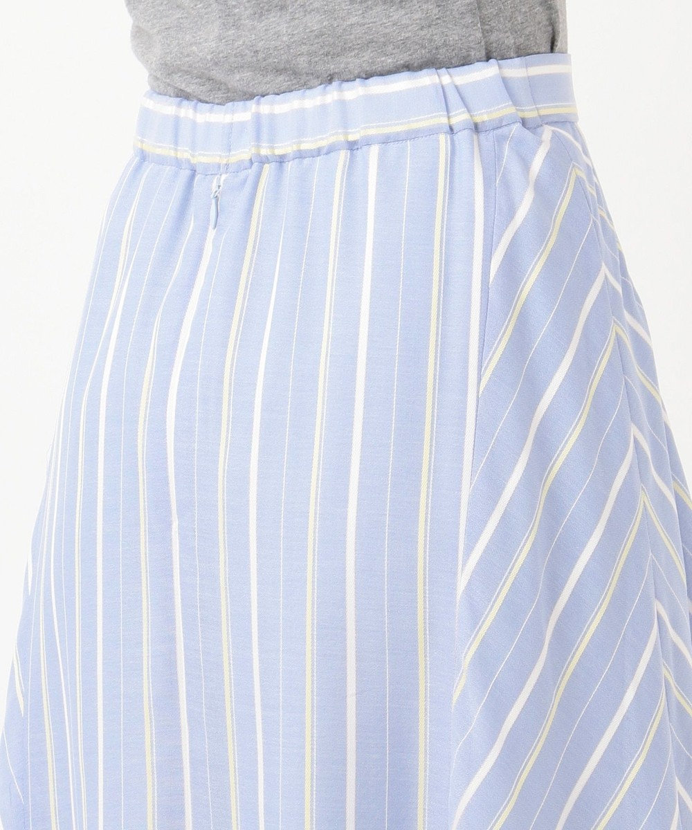 J.PRESS LADIES 【WEB限定色あり】プロビスストライプ スカート サックスブルー系1