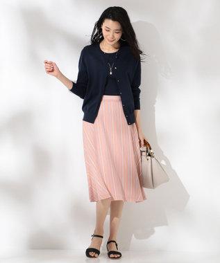 J.PRESS LADIES 【WEB限定色あり】プロビスストライプ スカート [WEB限定]ピンク系1