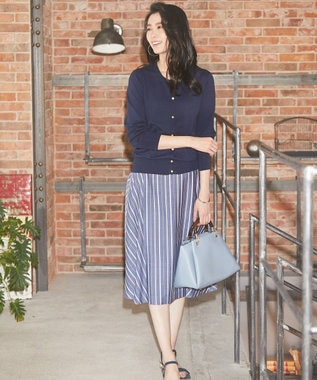 J.PRESS LADIES 【WEB限定色あり】プロビスストライプ スカート ネイビー系1