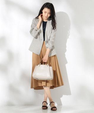 J.PRESS LADIES L 【洗える】コットンナイロンシルキーローン スカート キャメル系