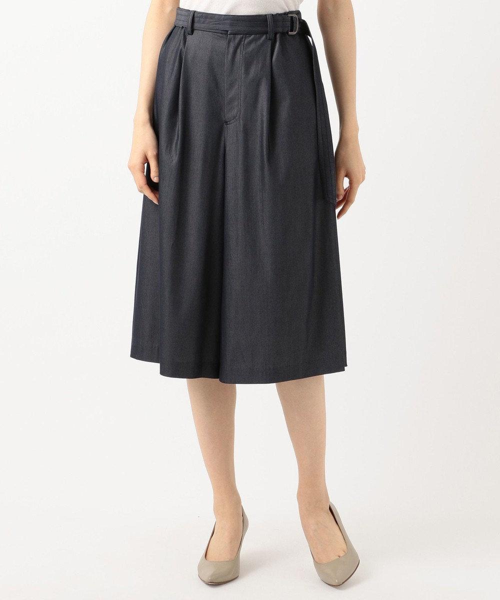 J.PRESS LADIES S 【洗える・色落ちしない】TENCEL DENIM スカート ネイビー系