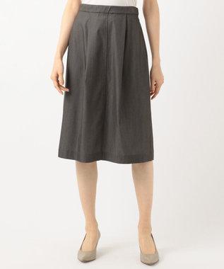 J.PRESS LADIES S 【洗える・色落ちしない】TENCEL DENIM スカート ダークブラウン系