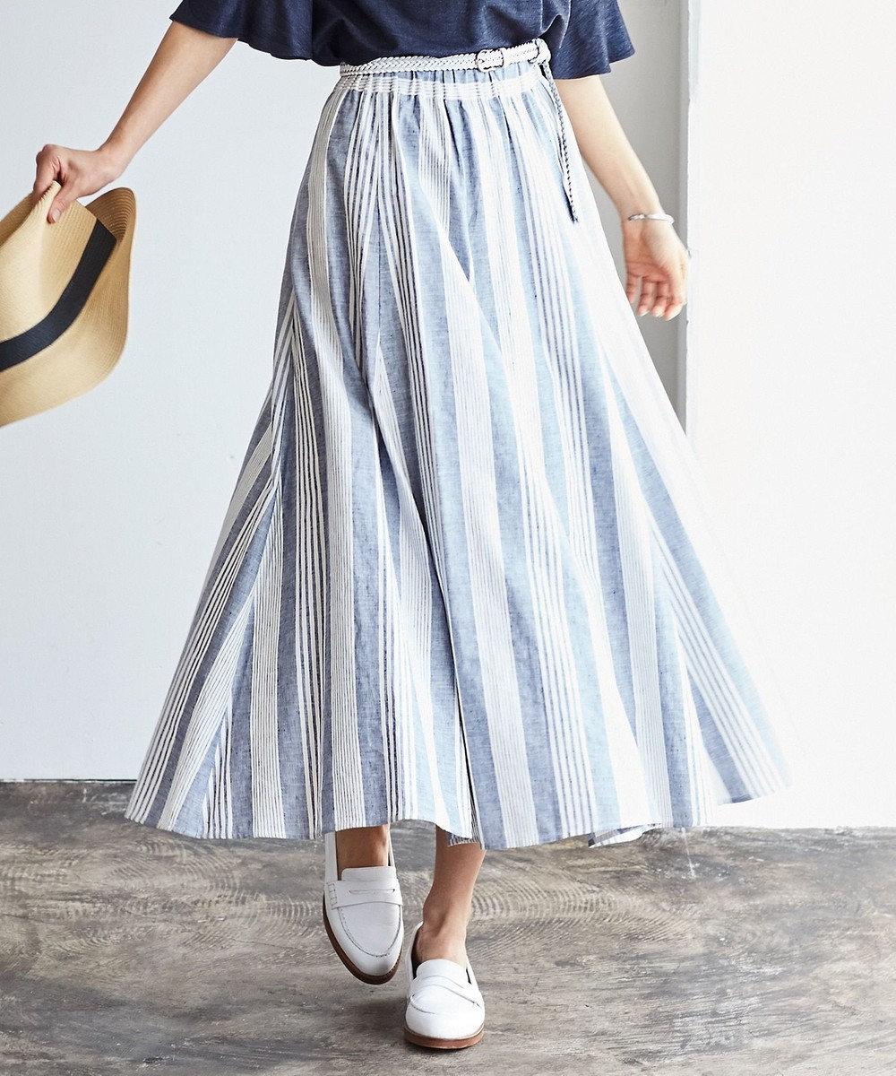 J.PRESS LADIES S 【洗える】SOMELOS MOUTINHO スカート ネイビー系2