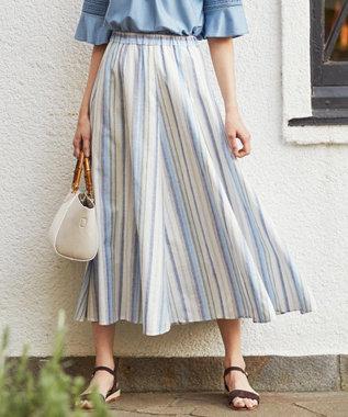 J.PRESS LADIES S 【洗える】SOMELOS MOUTINHO スカート サックスブルー系2