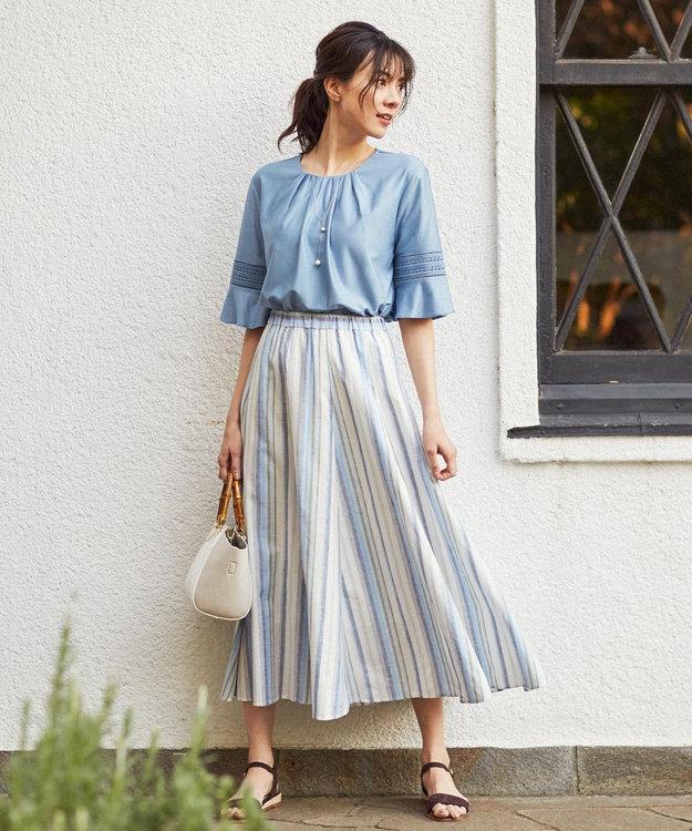 J.PRESS LADIES S 【洗える】SOMELOS MOUTINHO スカート