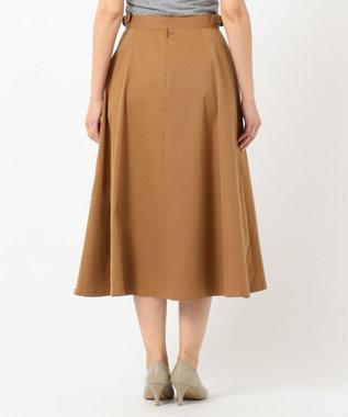 J.PRESS LADIES S 【接触冷感】タスランチノクロス スカート キャメル系