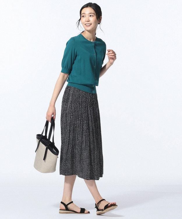 J.PRESS LADIES S 【洗える】ランダムドット プリーツスカート