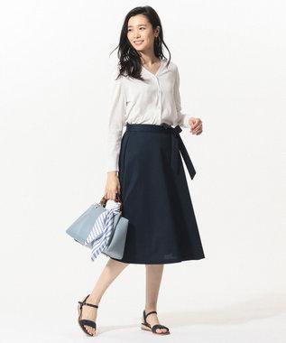 J.PRESS LADIES S 【吸水速乾】EVALETジャージー スカート ネイビー系