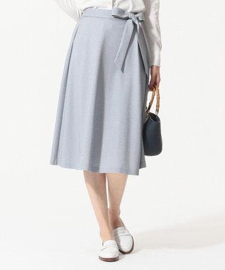 J.PRESS LADIES S 【吸水速乾】EVALETジャージー スカート ネイビー系1