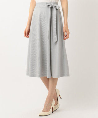 J.PRESS LADIES S 【吸水速乾】EVALETジャージー スカート ライトグレー系1