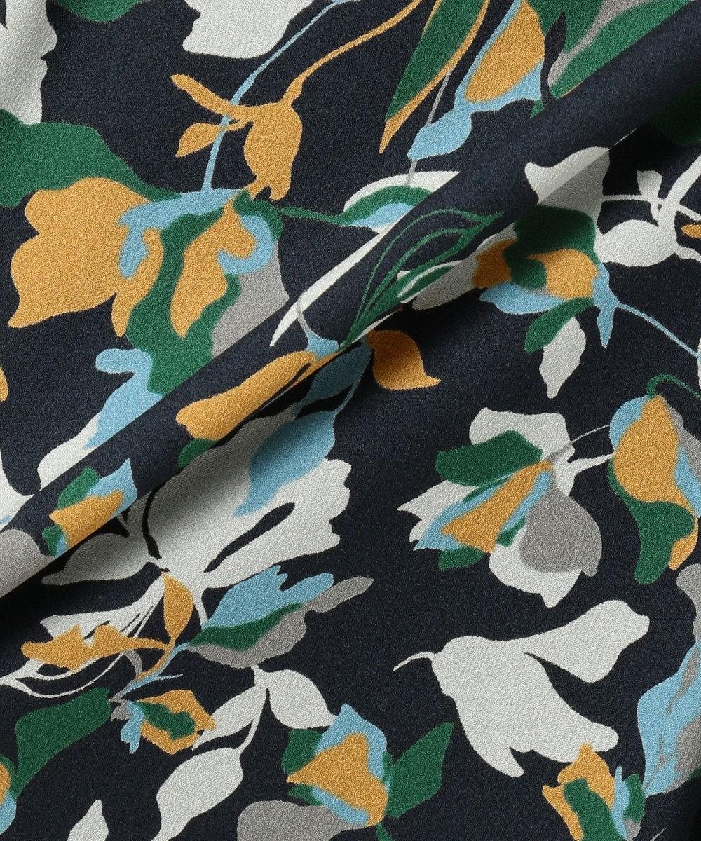 J.PRESS LADIES S 【洗える】COLLAGE FLOWERプリント スカート ネイビー系5