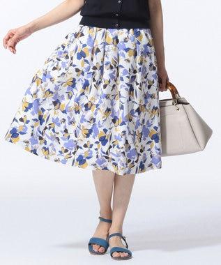J.PRESS LADIES S 【洗える】COLLAGE FLOWERプリント スカート ホワイト系5