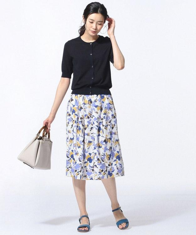 J.PRESS LADIES S 【洗える】COLLAGE FLOWERプリント スカート