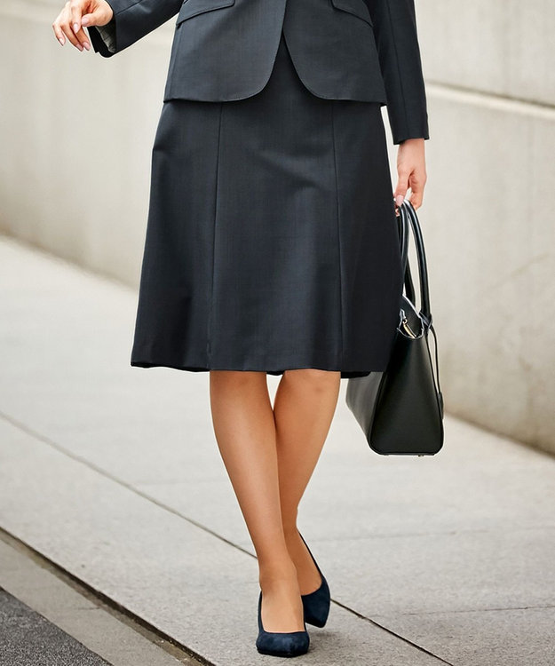 J.PRESS LADIES S 【スーツ対応】BAHARIYEネイビー スカート