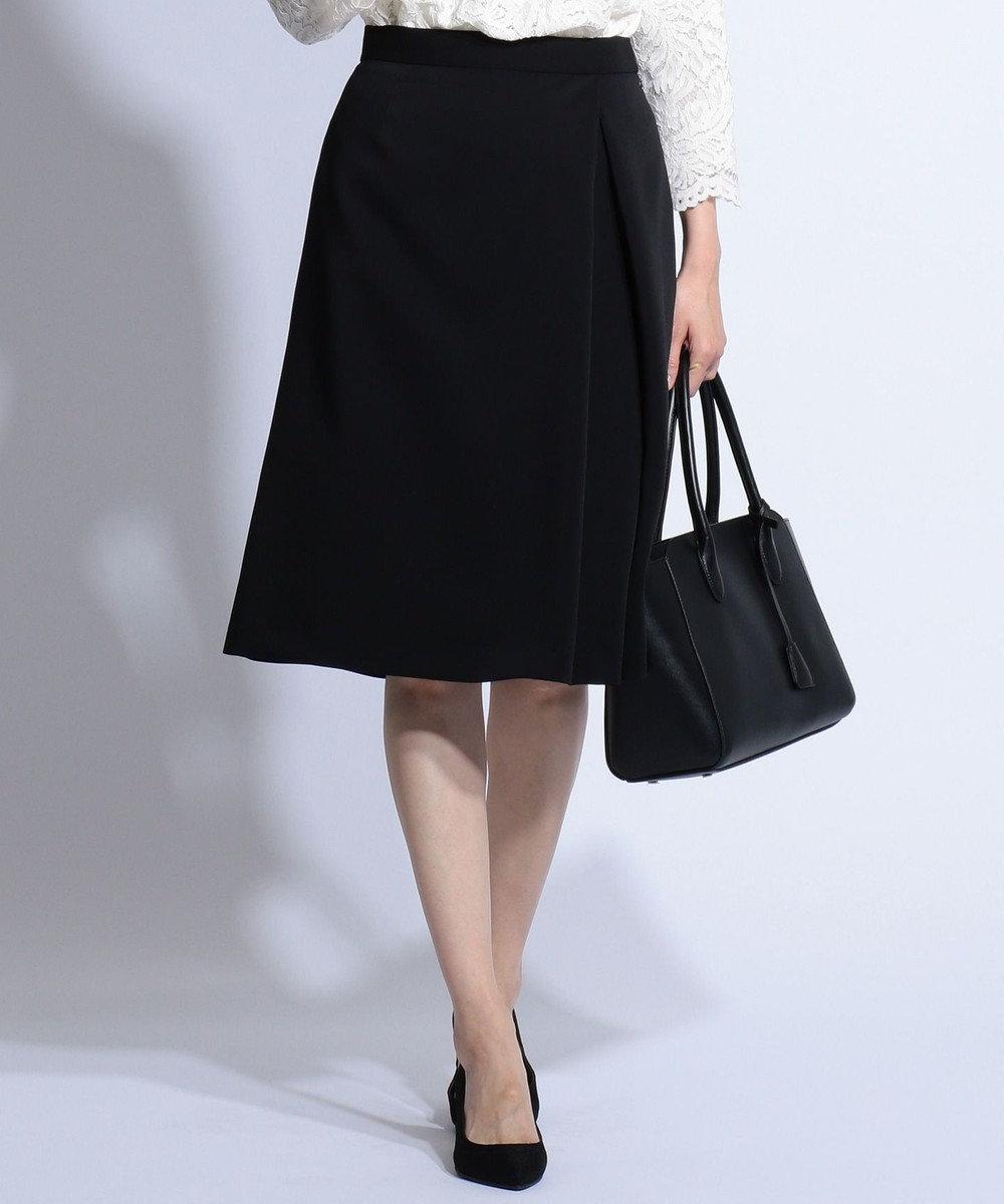 J.PRESS LADIES L 【ニオイ菌を抑える】ヴィーナスダブルクロス スカート ブラック系