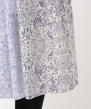 J.PRESS LADIES L 【洗える】フラワーバティックプリント スカート ブルー系6