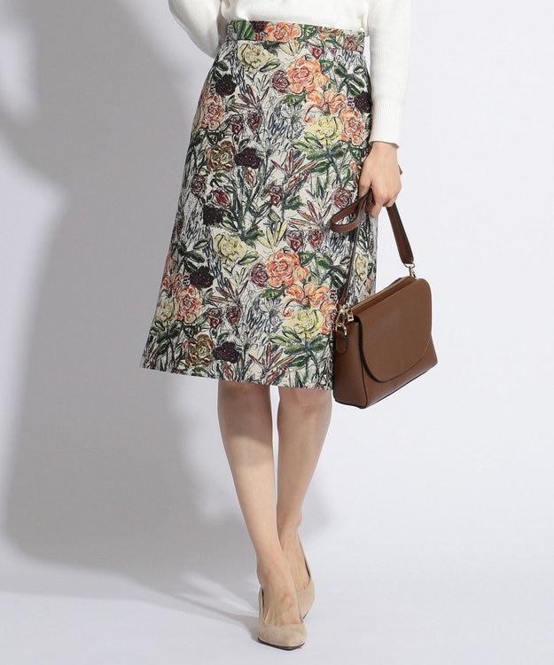 J.PRESS LADIES L NERO SU NERO ジャカード スカート