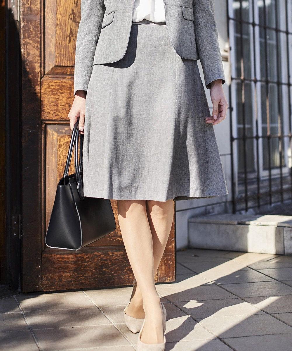 J.PRESS LADIES L 【スーツ対応】シルクレーヨンスーティング スカート グレー系