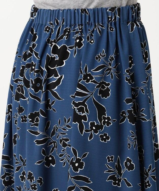 J.PRESS LADIES S 【リバーシブル】モダンフラワープリント スカート