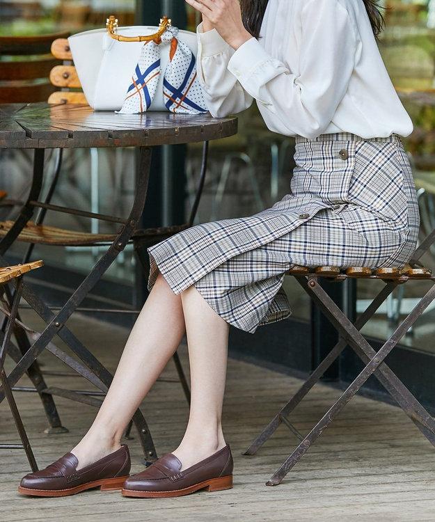 J.PRESS LADIES L 【撥水加工】ドライチェック ミディ丈 スカート