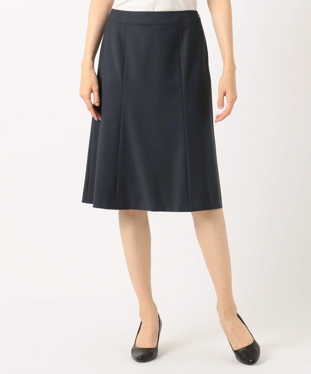 J.PRESS LADIES L 【スーツ対応】BAHARIYE スカート ネイビー系