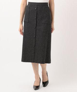 J.PRESS LADIES L ヴィクトリアヘリンボンストレッチ スカート グレー系