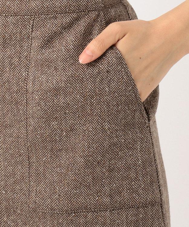 J.PRESS LADIES L ヴィクトリアヘリンボンストレッチ スカート