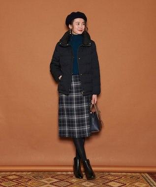 J.PRESS LADIES L 【リバーシブル】ウールリバーチェック スカート ネイビー系4