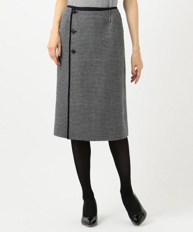 J.PRESS LADIES L 【リバーシブル】ウールリバーチェック スカート