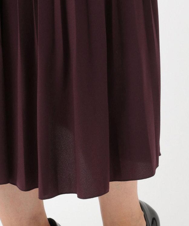 J.PRESS LADIES L ノルディス2WAYジョーゼット プリーツスカート