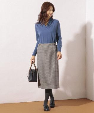 J.PRESS LADIES S サキソニーチェック スカート グレー系3